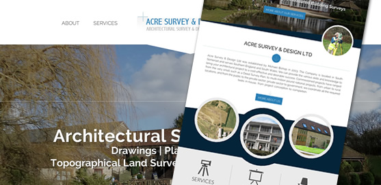 Acre Survey & Design Ltd Website