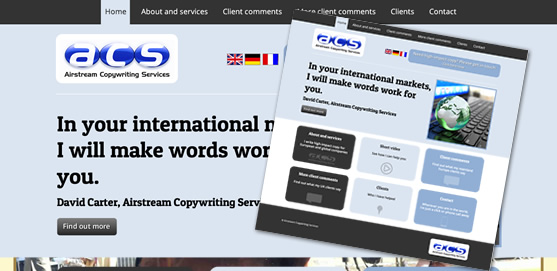 Airstream Copywriting Services Website