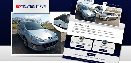 Destination Travel Wincanton Private Vehicle Hire Website