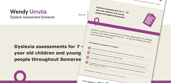 Dyslexia Assessment Somerset Website
