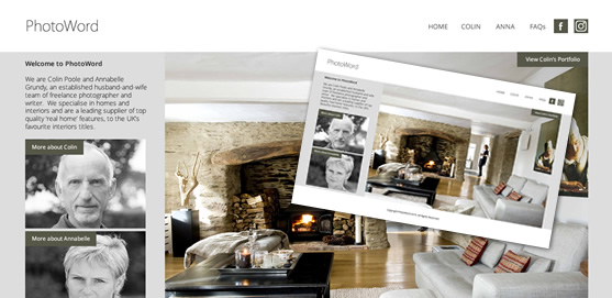 PhotoWord Limited Home Interiors Writer & Photographer Website
